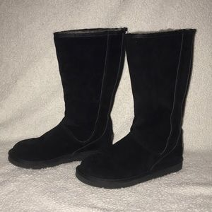 Tall Black UGG Boots with Zipper